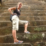 Steile Treppen bei den Felsentempeln von Angkor Wat / Siem Reap / Cambodia