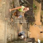 Steile Treppen bei den Felsentempeln von Angkor Wat / Siem Reap / CambodiaSteile Treppen bei den Felsentempeln von Angkor Wat / Siem Reap / Cambodia