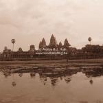 Sonnenuntergang bei Angkor Wat