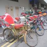 Fahrradrikshaws in Singapur