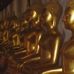 Buddhas in a row in Phitsanulok / Thailand