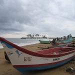 Puma-Boote am Strand von Mammalapuram