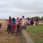 Das Holifest (das Fest der Farben) in Mammalapuram