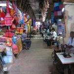 Schneidereibetrieb im Tempel in Madurai