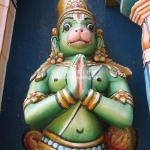 Hanuman im Tempel in Trichy