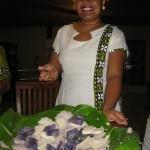 Mia präsentiert die Kumaras im Vakaloa