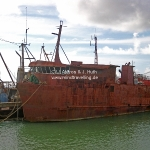 Rostlaube im Hafen von Nuku'alofa, der Hauptstadt Tongas, auf der Hauptinsel Tongatapu