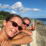 Wir bestaunen die Blowholes an der Südküste der Insel